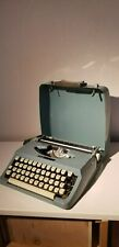 VINTAGE BROTHER  Majestic 400 PORTABLE BLUE TYPEWRITER WITH CASE NICE