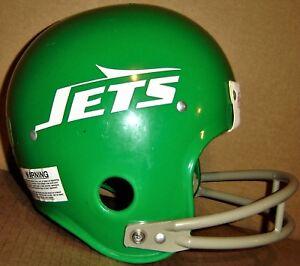 NEW YORK JETS Green VINTAGE SUSPENSION NFL Rawlings HELMET