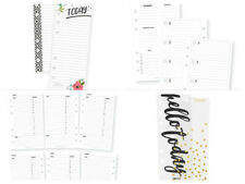 Carpe Diem Personal Planner Daily & Weekly Inserts, Mini Bookmark/Tablets LOT