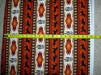 "Tucson Horse Horses 497 Terracotta Elizabeth Studio stripe fabric 42"" BOLT END"