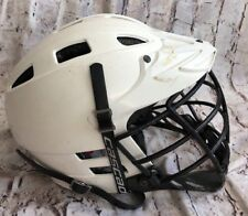 Cascade Cpv White Chrome Lacrosse Helmet With Chin Strap Size Small