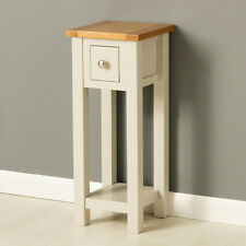 Mullion Painted Telephone Stand / Small Painted Hall Table / Tall Narrow Console
