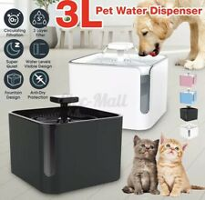 Cat Water Fountains Fountain, 101 Oz/3L Automatic Pet Dog Dispenser With Window