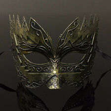 Gold Men's Romans Gladiator Style Up Half Face Mask Carnivals Party Ball Mask