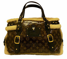 Louis Vuitton Monogram Tote Bag Authentic Auth Brown Thunder Shearling