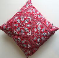 Mexican Skull Bandana Cushion | 100% Cotton | Day of The Dead themed home decor