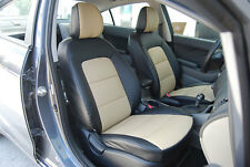 IGGEE S.LEATHER CUSTOM FIT SEAT COVER FOR 13-14 KIA FORTE 13 COLORS AVAILABLE