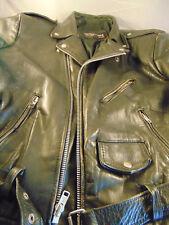 Wilson leather punk jacket motorcycle style black Ramones zipper belt Rock Roll