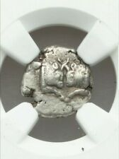Caria, Uncertain Mint Obol Bull NGC CH VF Ancient Silver Coin