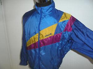 vintage 80`s Adidas Nylon Sportjacke retro 80iger oldschool glanz Jacke D6 M/L