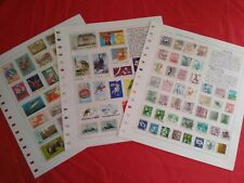 E6045 KOREA STAMPS COLLECTION (3 PAGES)