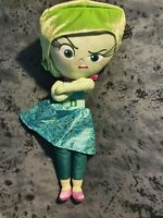"""Disney Pixar Inside Out Large 20"""" Disgust Soft Plush Toy Green immaculate"""