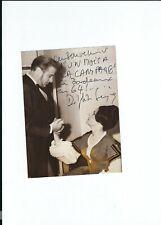 Autographe original de Delphine SEYRIG sur photo