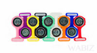 Colorful Multi function Digital Silicone Rubber Nurse Watch Fob Watch LCD UK
