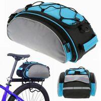 Bicycle Seat Rear Bag Waterproof Bike Carrier Cycling Pannier Rack Pack Shoulder