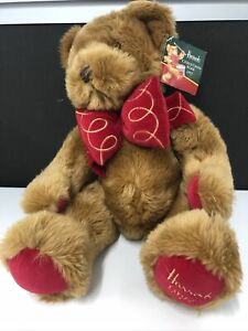 Harrods Christmas Bear 1997 with Tags