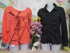 """Lot vêtements occasion femme - Chemise """" Naf Naf """", Haut - T : 40 / 42"""