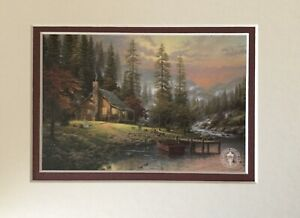 PEACEFUL RETREAT By Thomas Kinkade 10 X 8 Double Matted Print Ready To Frame