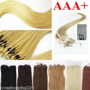 50S 18-26Inch Micro ring Loop Silicone Beads Tipped Remy Human Hair Extensions