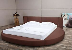 Oslo X Round Bed (Brown) by Mattisse