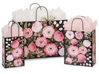 MOONLIT FLORAL Design Party Gift Paper Bag ONLY Choose Size & Pack Amount