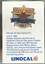 1980's L.A. DODGERS UNOCAL PIN (UNUSED) - 1980 ALL-STAR GAME PIN