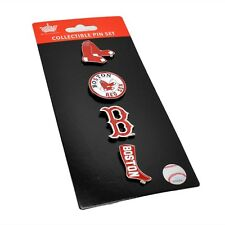 MLB Boston Red Sox 4 Pin Set Evolution Special Edition Logo Vintage Aminco