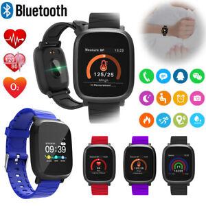 Bluetooth Smart Watch Heart Rate Blood Pressure/Oxygen Monitor Fitness Tracker