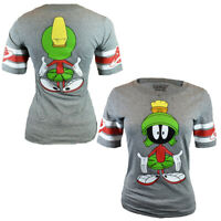 Marvin the Martian Women's T-shirt - Looney Tunes - Front & Back Print  S-X  NEW