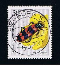 GERMANIA 1 FRANCOBOLLO PRO GIOVENTU INSETTI TRICODE 1984 timbrato
