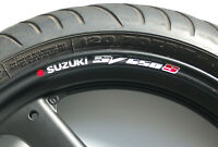 8 x SUZUKI SV650S Wheel Rim Stickers - 20 Colours - sv 650 s mini twin super