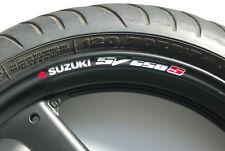 8 x SUZUKI SV650S Wheel Rim Stickers Decals - sv650 sv 650 s 650s minitwin twin
