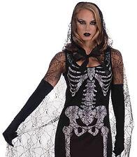 Graveyard Shift Skeleton Spider Witch Zomibe Ladies Halloween Fancy Dress 10-14