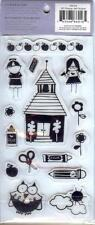 HEIDI GRACE Rubber Cling Stamps SCHOOL   KIDS APPLES CRAYONS PENCILS OWL