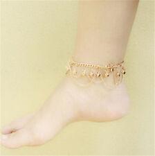 Bracelet Barefoot Sandal Beach Foot Jewelry Women Gold Bead Anklet Ankle Chain