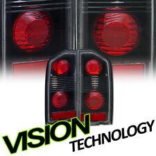 For 88-98 Suzuki Vitara Sidekick Tracker Black Clear Altezza Taillights Taillamp