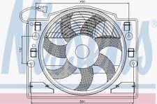 Nissens 85420 Radiator Fan fit BMW 3 E46 98-