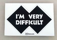 """Snow Skier Skiing Boarding I'm Very Difficult sticker decal 4""""x2.6"""""""