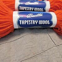 5 Bucilla 100%Tapestry Wool Color 008 Orange 40 Yard  Each