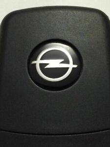 Schlüsselembleme 2 Stck. Opel/Astra/Corsa/Vectra +Alu-Kunststoffbasis +14mm