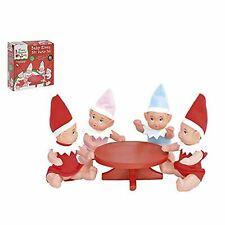 Elves Behaving Badly Kids 5 Piece Baby Elves Christmas Party Set 4 Elves & Table