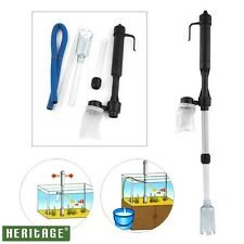 Battery Aquarium Gravel Vacuum Cleaner Sand Fish Tank Cleaning Syphon Water Vac