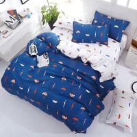 Cartoon Printing Bedding Set Duvet Quilt Cover+Sheet+Pillow Case Four-Piece Set