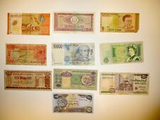 World Paper Money Set of 10 Different Circulated Banknotes Foreign Currency Lots