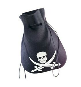 Pirate Coin Pouch - Pirate Logo - Black/White - Costume Accessory