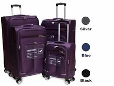 Set Of 4 Light Weight 4 Wheeled 360' Spinner Sanpoints Suitcases SA93