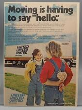Vintage Magazine Ad Print Design Advertising United Van Lines