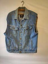 Lee PREMIUM QUALITY 153436 Vintage sleeveless Distressed Mens Denim Jacket
