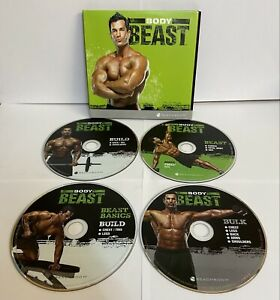 FITNESS DVD BODY BEAST MUSCLE 4 WORKOUT BEACHBODY FIT TRAINING GYM PRESENT NEW
