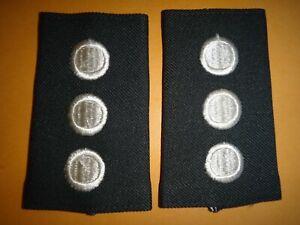 Paire De États-Unis Armée Junior Rotc Cadet Capitaine Rang Slip-On Épaulettes (